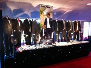 Chaplins Formal Hire Leek Wedding Fayre set up