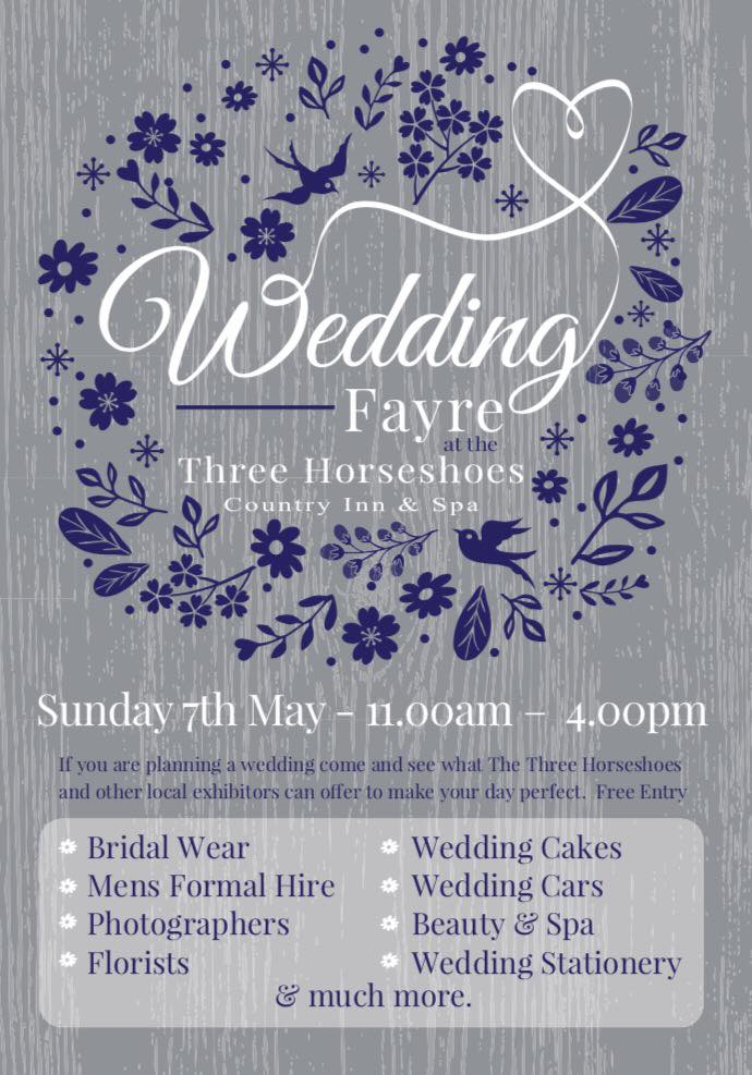 Three Horseshoes Wedding Fayre May 7th 2017